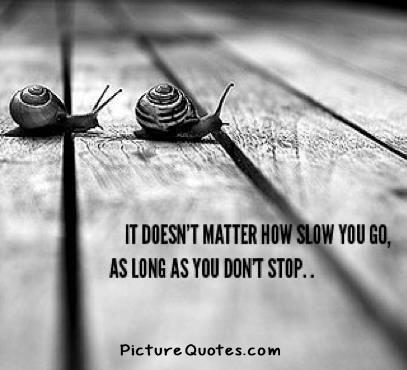 It does not matter how slow you go so long as you do not stop Picture Quote #1
