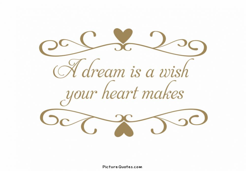 A Dream Is a Wish Your Heart Makes Picture Quote #3