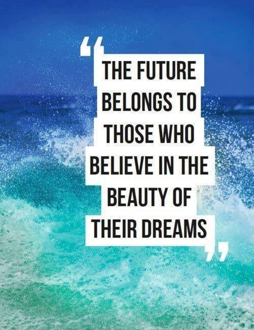 The future belongs to those who believe in the beauty of their dreams Picture Quote #3