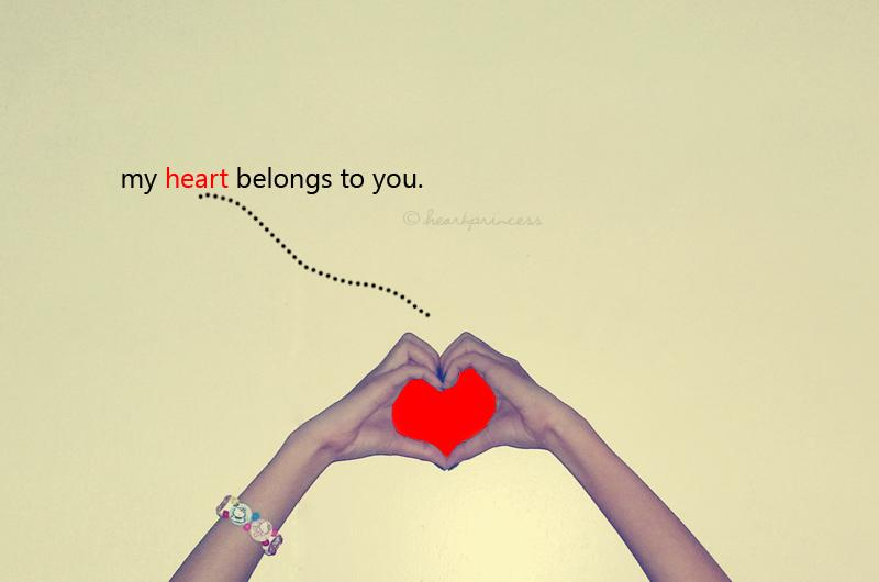My heart belongs to you Picture Quote #2