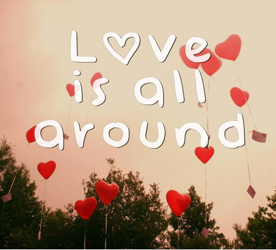 Love is all around Picture Quote #1
