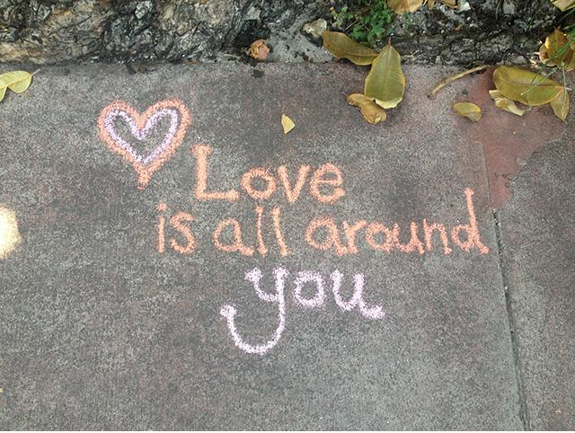Love is all around Picture Quote #2