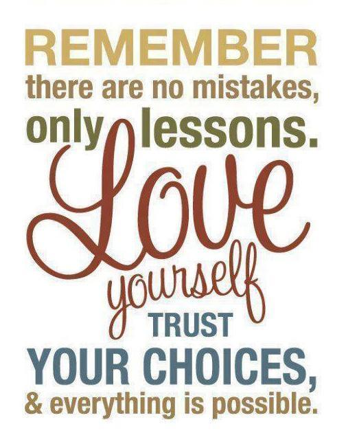 Remember, there are no mistakes, only lessons. Love yourself, trust your choices, and everything is possible Picture Quote #2