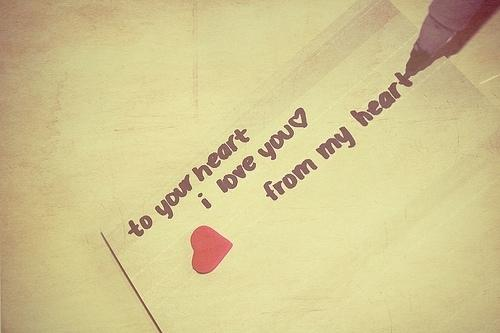 To your heart, i love you, from my heart Picture Quote #1