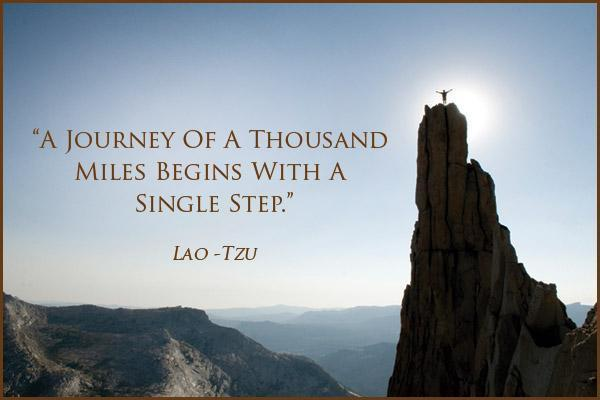 The journey of a thousand miles begins with a single step Picture Quote #1