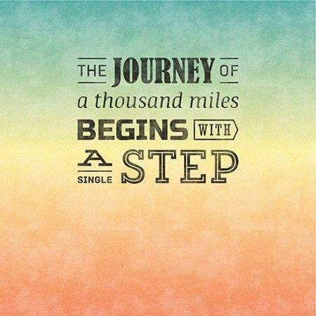 "a journey of thousand miles starts ""a journey of a thousand miles begins with a single step"" (chinese: 千里之行,始 於足下 pinyin: qiān lĭ zhī xíng, shĭ yú zú xià literally: ""a journey."