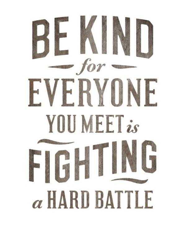 Be kind, for everyone you meet is fighting a hard battle Picture Quote #3