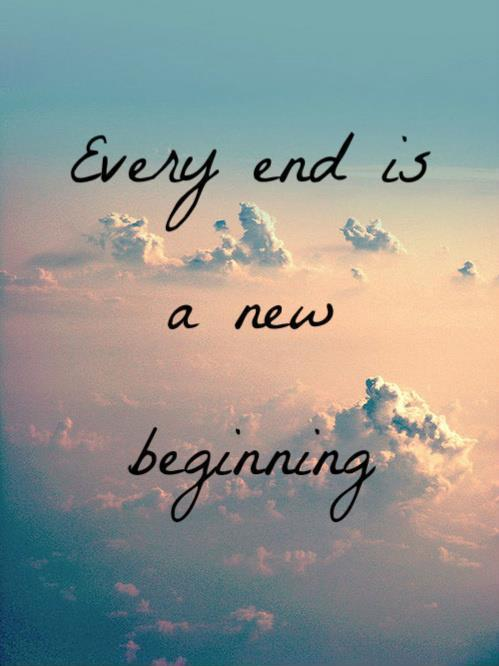 the end of a new beginning essay A beginning and end essay 701 words | 3 pages a beginning and end thesis: there is a reason for all seasons, two of which are spring with its new beginning and autumn with its incipient decline.