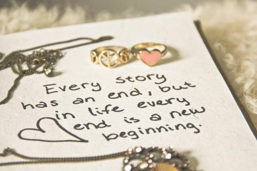 Every story has an end, but in life every end is just a new beginning Picture Quote #4