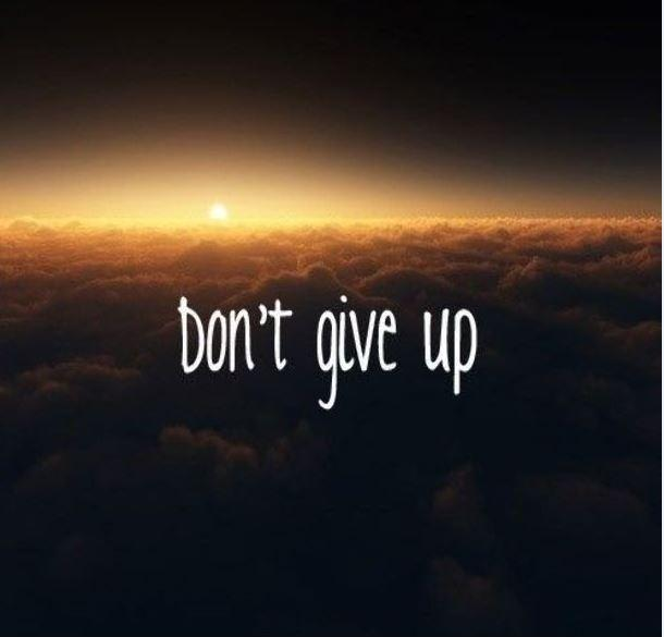 Don't give up Picture Quote #1