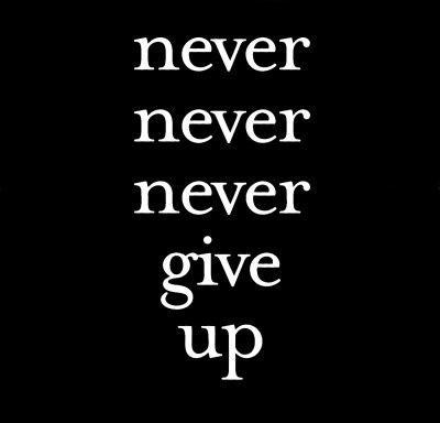 Never give up Picture Quote #2
