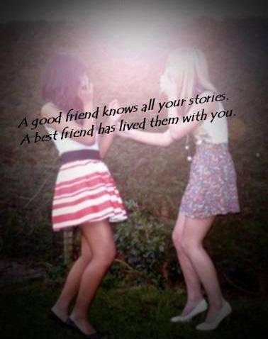 A good friend knows all your best stories, a best friend has lived them with you Picture Quote #2