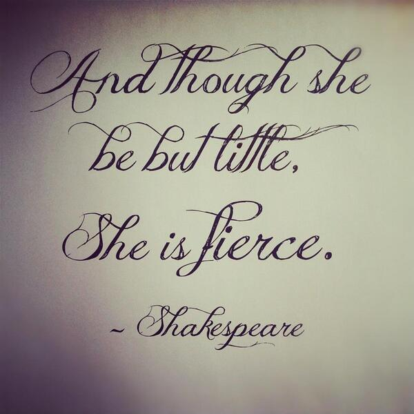 Though she be but little, she is fierce Picture Quote #2