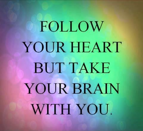 Follow your heart but take your brain with you Picture Quote #2