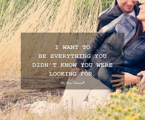 I want to be everything you didn't know you were looking for Picture Quote #1