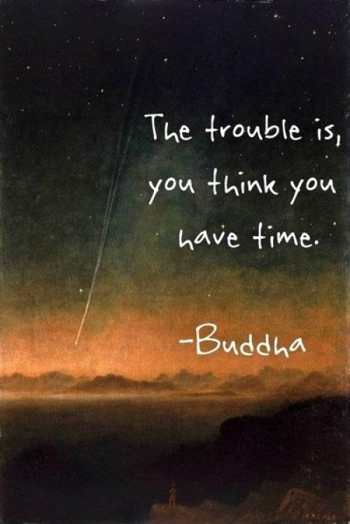 The trouble is, you think you have time Picture Quote #1