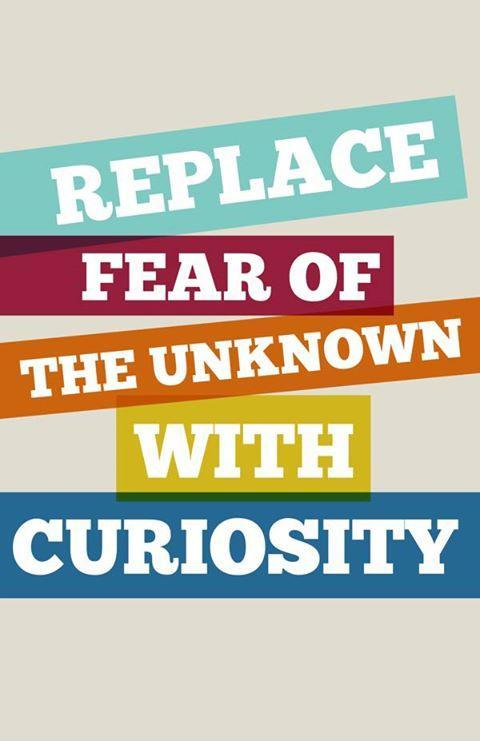 Replace fear of the unknown with curiosity Picture Quote #1