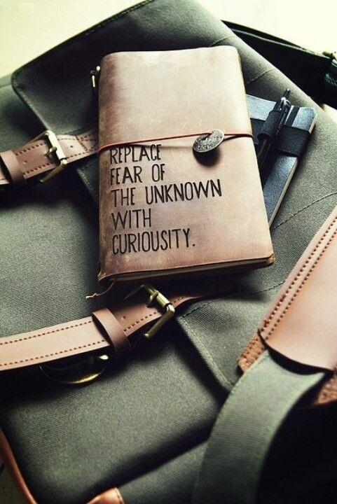 Replace fear of the unknown with curiosity Picture Quote #2