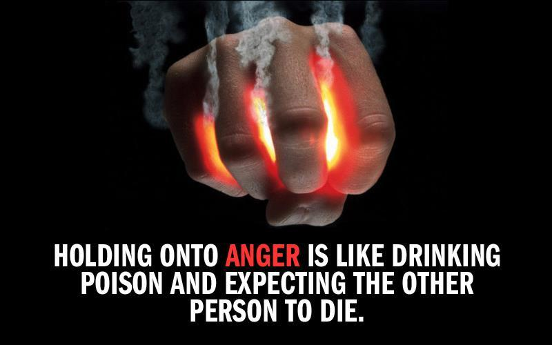 Holding onto anger is like drinking poison and expecting the other person to die Picture Quote #1