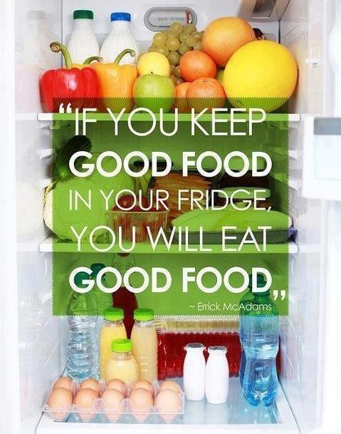If you keep good food in your fridge, you will eat good food Picture Quote #1