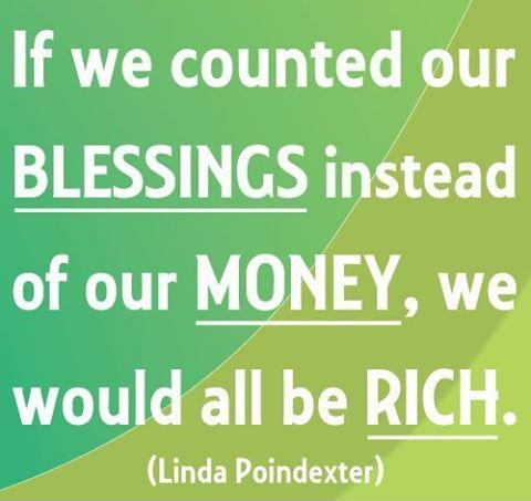 If we counted our blessings instead of our money, we would all be rich Picture Quote #1