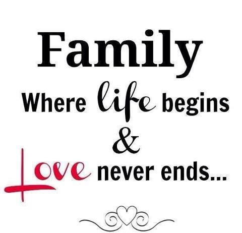 Family. Where life begins and love never ends Picture Quote #3