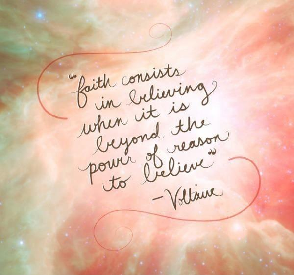 FAITH CONSISTS IN BELIEVING WHEN IT IS BEYOND THE POWER OF REASON TO BELIEVE Picture Quote #2