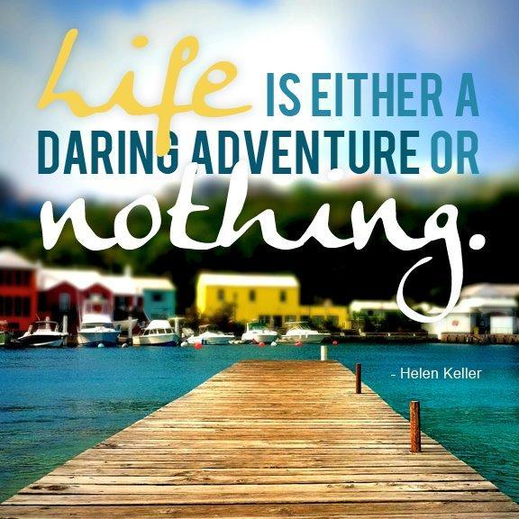 Life is either a daring adventure or nothing Picture Quote #3