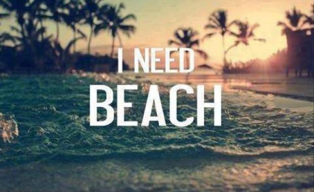 I need beach Picture Quote #1