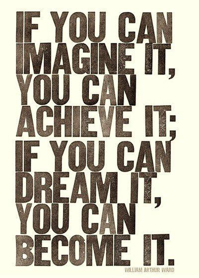 If you can imagine it, you can achieve it. If you can dream it, you can become it Picture Quote #1