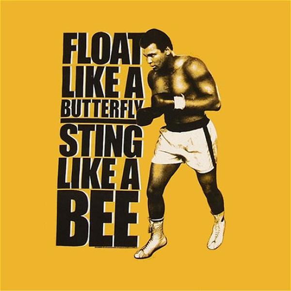 Float like a butterfly, sting like a bee. The hands can't hit what the eyes can't see Picture Quote #2