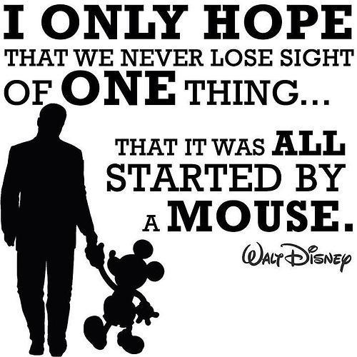 I only hope that we don't lose sight of one thing - that it was all started by a mouse Picture Quote #1