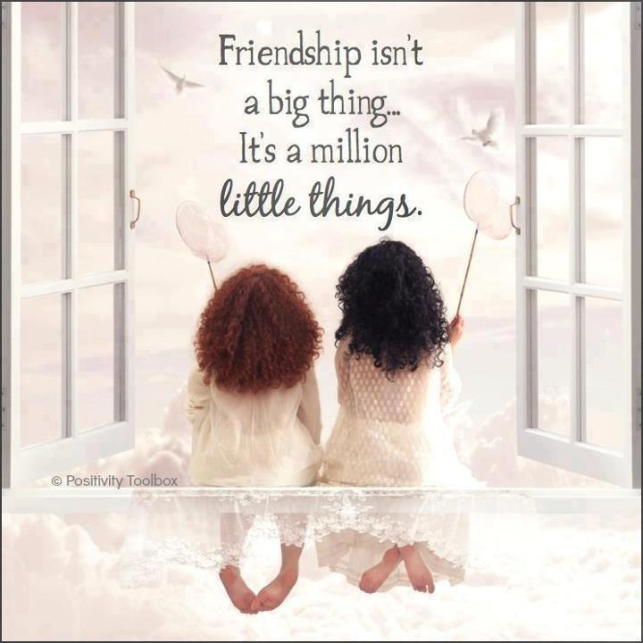 Friendship is not a big thing - it's a million little things Picture Quote #2