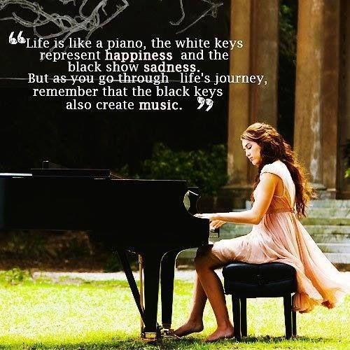 Life is like a piano Picture Quote #1