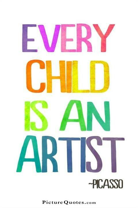 Every child is an artist. The problem is how to remain an artist once we grow up. Picture Quote #6