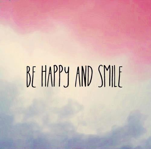 Be happy and smile Picture Quote #1