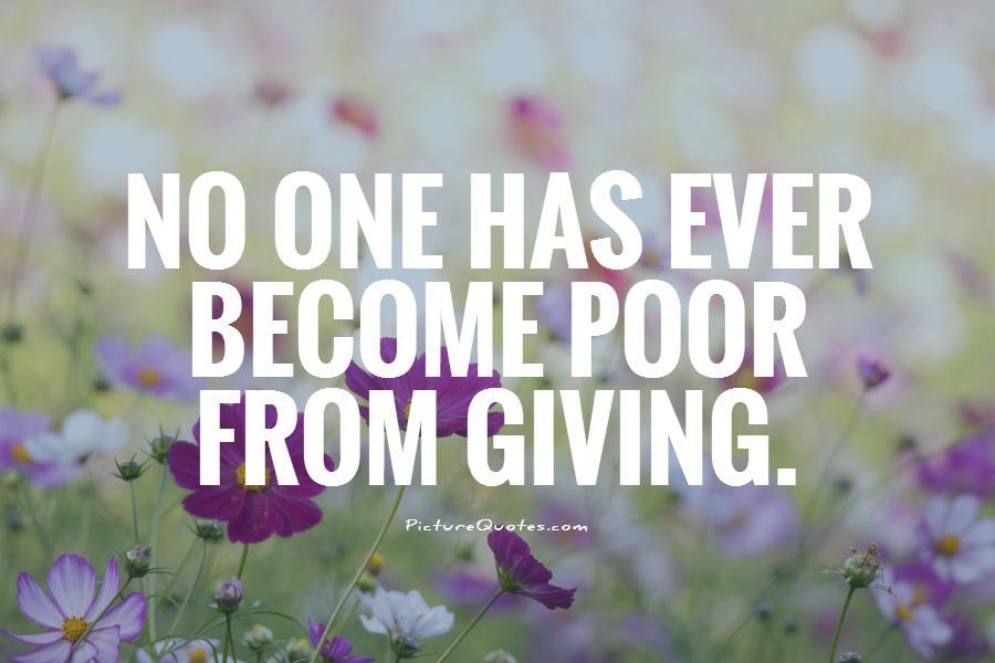 Giving Quotes Giving Sayings Giving Picture Quotes Classy Quotes About Donating