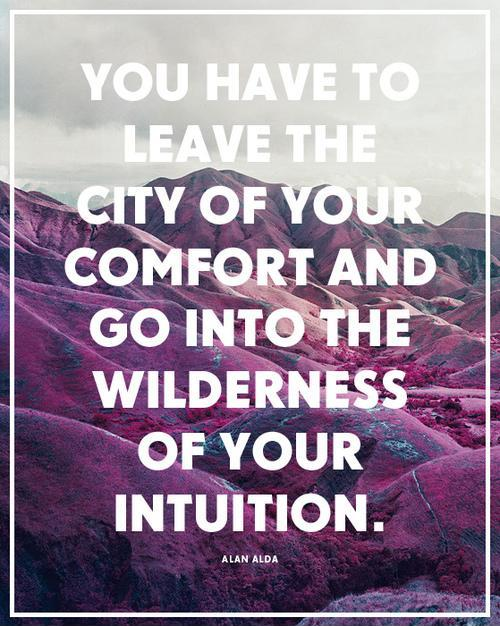 You have to leave the city of your comfort and go into the wilderness of your intuition Picture Quote #1