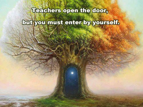 Teachers open the door, but you must enter by yourself Picture Quote #1