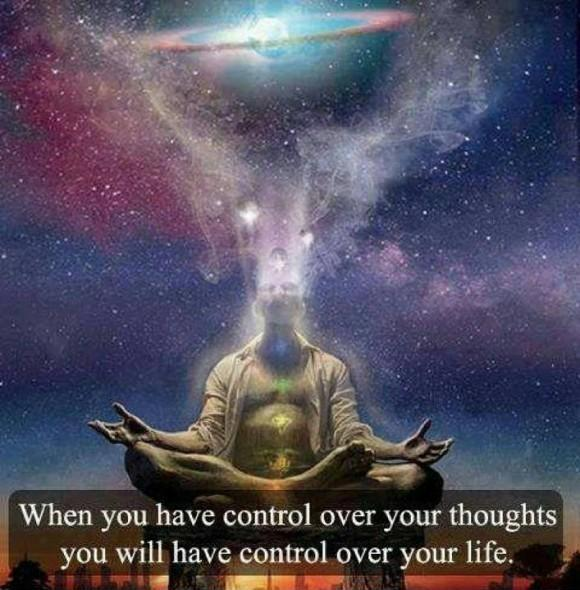 When you have control over your thoughts you have control over your life Picture Quote #1