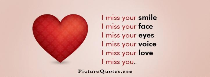 I miss you Picture Quote #3