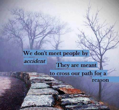 If Two People Are Meant To Be Quotes: We Don't Meet People By Accident, They Are Meant To Cross
