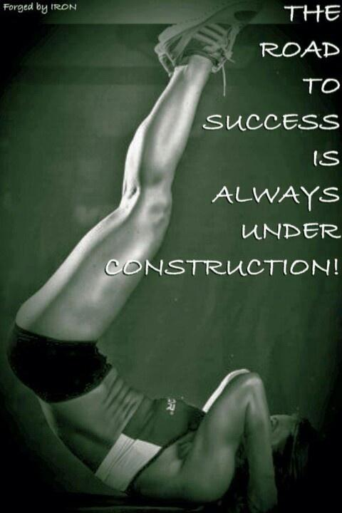 The road to success is always under construction Picture Quote #2