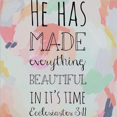 He has made everything beautiful in its time Picture Quote #1