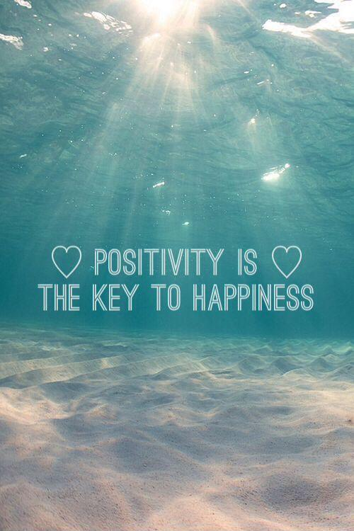 Positivity is the key to happiness Picture Quote #1