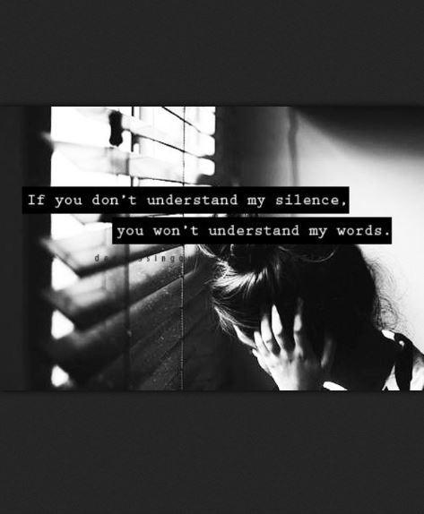 If you don't understand my silence how will you understand my words Picture Quote #2