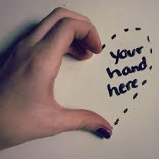 Your hand here Picture Quote #1