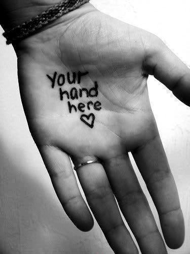 Your hand here Picture Quote #2