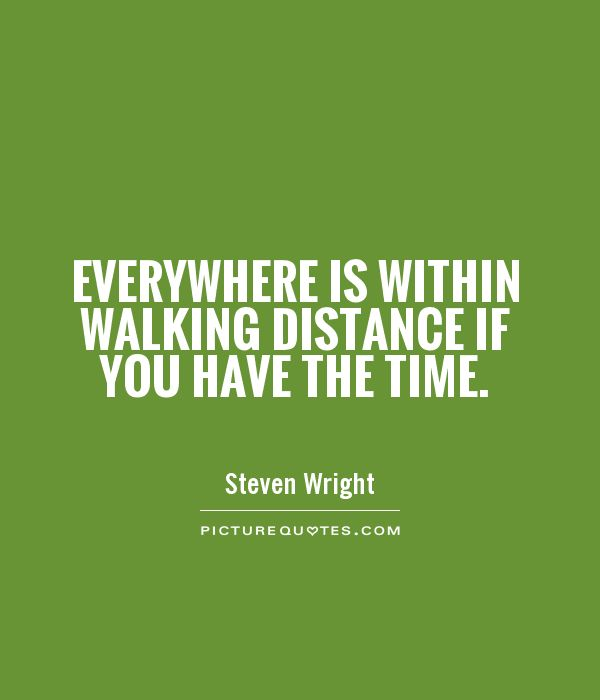 Everywhere is within walking distance if you have the time Picture Quote #1
