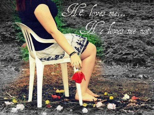 He loves me. he loves me not Picture Quote #1